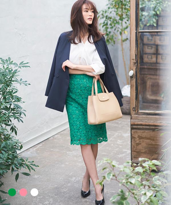 【カタログ掲載】レースタイトスカート