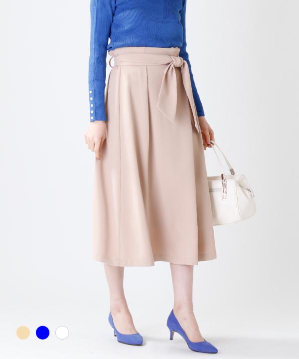 ラップ風リボンスカート