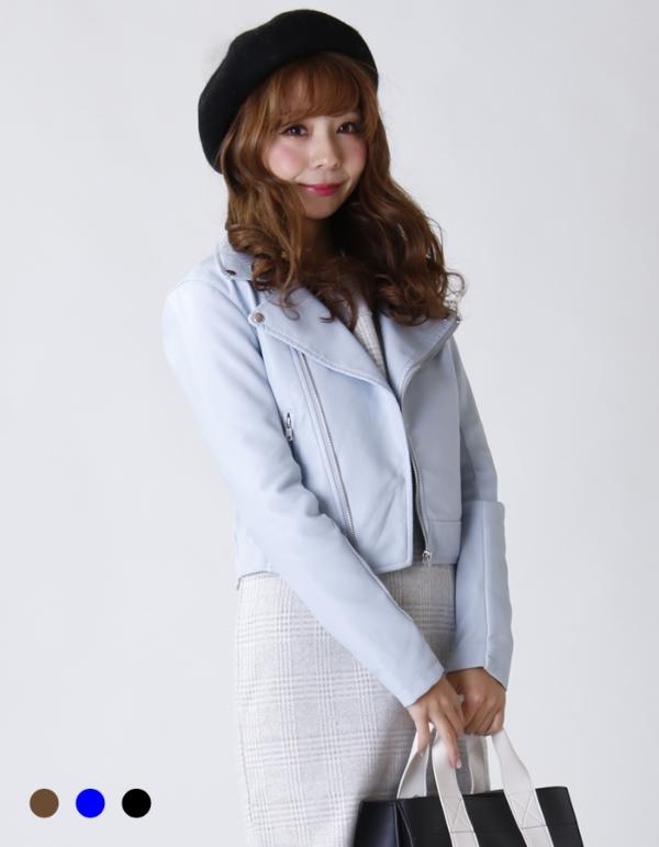 【カタログ掲載】ショート丈ライダースジャケット