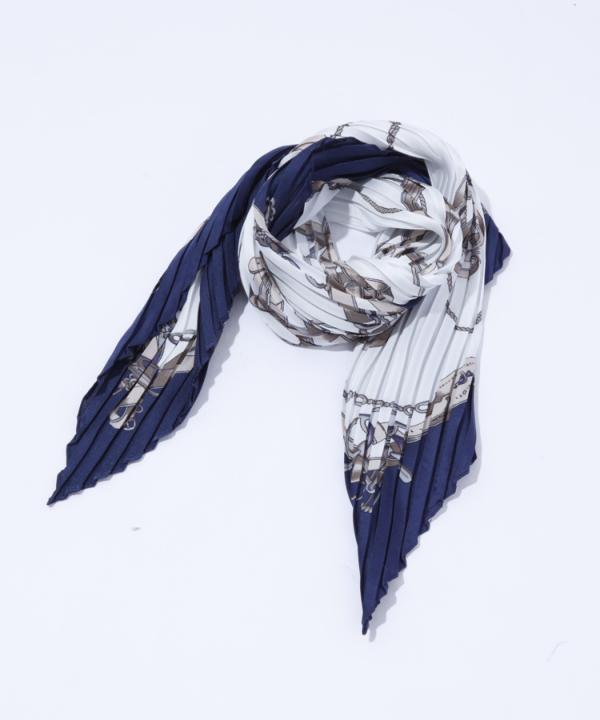 チェーン柄プリーツスカーフ