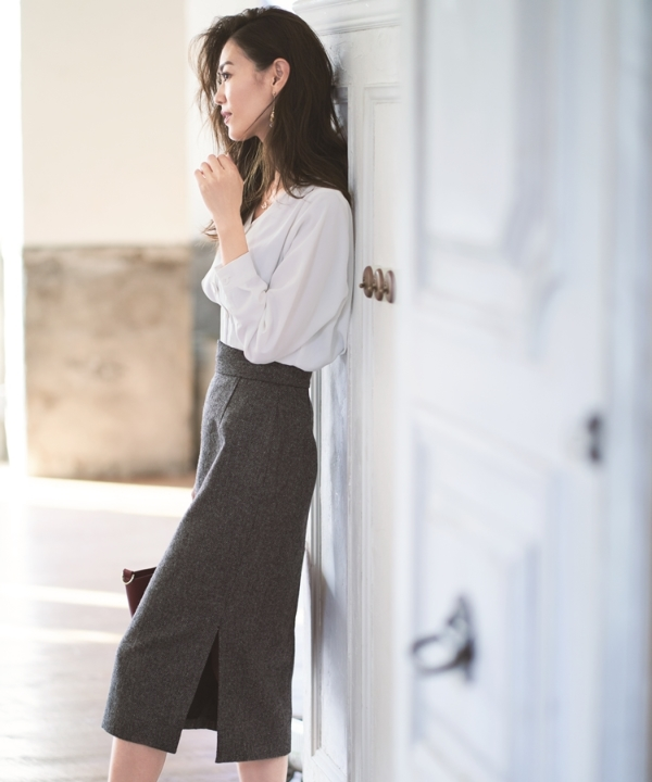 【カタログ掲載】ツイードタイトスカート