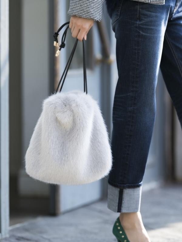【カタログ掲載】エコファー巾着バッグ