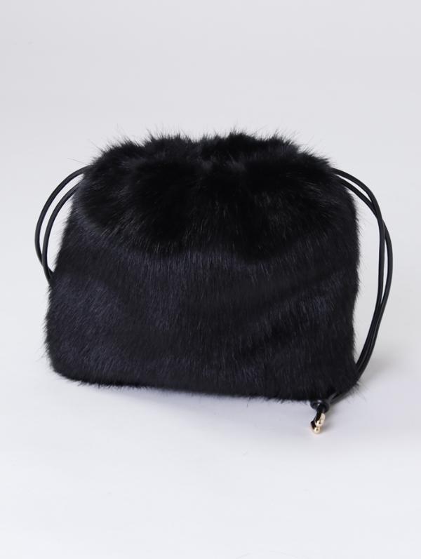 【先行予約販売】エコファー巾着バッグ