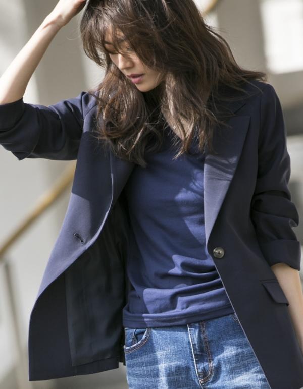 【カタログ掲載】前2重VネックTシャツ